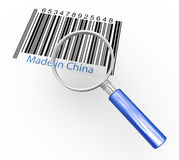 Magnifier and made in china Stock Images