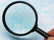 magnifier map Στοκ Εικόνα