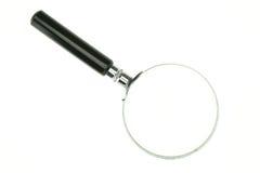 Magnifier met witte achtergrond wordt geïsoleerd die Royalty-vrije Stock Foto