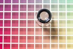 Magnifier na kolor mapie Fotografia Stock