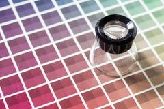 Magnifier na kolor mapie Obraz Stock