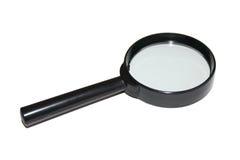 Magnifier nero Fotografia Stock