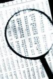 Magnifier over Cijfers Stock Fotografie