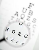 Magnifier over ooggrafiek Stock Afbeeldingen