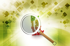 Magnifier with percentage sign Stock Photos