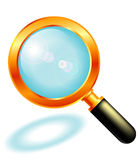 Magnifier reflecting sun Royalty Free Stock Images