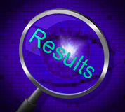 Magnifier Results Shows Searches Search And Outcome Royalty Free Stock Photos