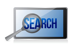 Magnifier and search on a phone screen Stock Photography