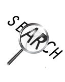 Magnifier and Search Stock Image