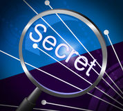 Magnifier Secret Represents Magnify Discreet And Searching Royalty Free Stock Photos