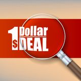 Magnifier, selling banner. Stock Images