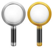 Magnifier set Stock Photo