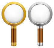 Magnifier set Royalty Free Stock Photography