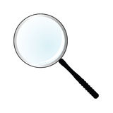 Magnifier simple vector illustration Royalty Free Stock Photos