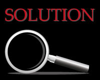 Magnifier. Solution magnifier to solve something Royalty Free Stock Photo