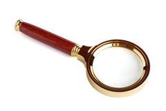 Magnifier sopra bianco. Variante quattro. Fotografia Stock Libera da Diritti