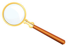Magnifier, vector. Beautiful magnifier, separately on a white background Stock Photos