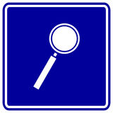 Magnifier vector sign Royalty Free Stock Photo