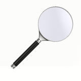 Magnifier on white background Royalty Free Stock Photos