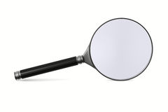 Magnifier on white background Stock Images