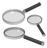Magnifiers isolated on white. Stock Images