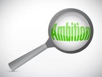 Magnifiez la conception d'illustration d'ambition de mot illustration stock