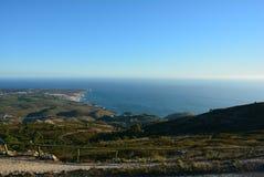 Magnifika widok od Santuà ¡ Rio da Peninha, Portugalia - Zdjęcie Stock