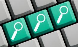 3 magnifique los símbolos en el teclado de ordenador verde azul fotos de archivo libres de regalías
