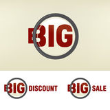 Zoom Big Sale. A zoomed BIG SALE discount Royalty Free Stock Images