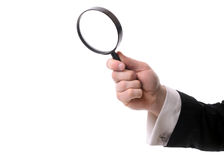 Magnifiying glass Stock Images