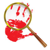 Magnify blood Stock Images