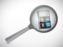 Magnify calculator illustration design Stock Photo