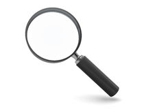 Magnify glass. 3d illustration of magnify glass isolated over white background Royalty Free Stock Photos