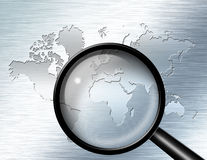 Magnify Glass Africa Royalty Free Stock Photography