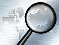 Magnify Glass Asia Royalty Free Stock Images