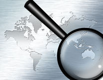 Magnify Glass focus on Australia. High Resolution 3D Illustration Magnify Glass focus on Australia Royalty Free Stock Image