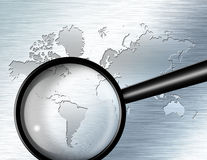 Magnify Glass  South America Royalty Free Stock Images