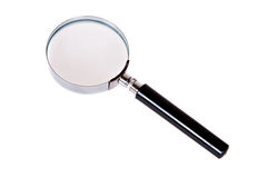 Magnify Glasses on Isolated White Background. Close-up Stock Image