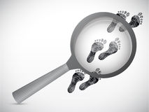 Magnify investigation concept illustration Royalty Free Stock Image