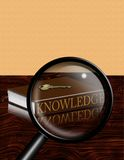 Magnify Knowledge Stock Photo