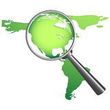Magnify  map Stock Photos