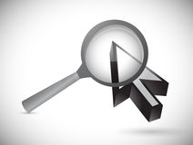 Magnify over a cursor. illustration design Royalty Free Stock Image