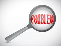 Magnify over a problem. illustration design royalty free illustration