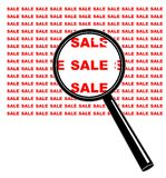 Magnify on Sale. Vector illustration - Magnify on sale Royalty Free Stock Photos