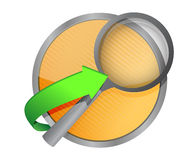 Magnify search concept button illustration Stock Images