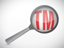 Magnify trademark symbol illustration design. Magnify trademark illustration design over a white background Stock Photo