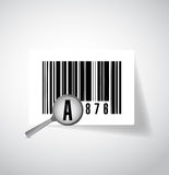Magnify ups barcode illustration design Royalty Free Stock Photos