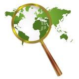 Magnify world Stock Image