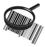 Magnifying barcode Royalty Free Stock Photo