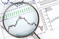 Magnifying chart Royalty Free Stock Photography